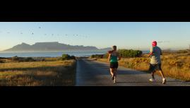 lone runner robben island